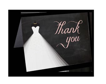Personalized Wedding Shower Thank You Cards • Thank Yous • Bridal Shower Thanks • Customized Thank You Card • Future Mrs. add your last name