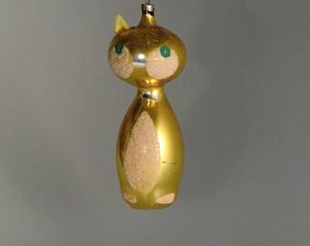 Vintage Czech Bohemian Christmas Glass Ornament