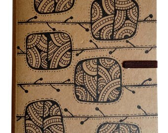 A5 Eco Notebook - Geo Patterned Blocks