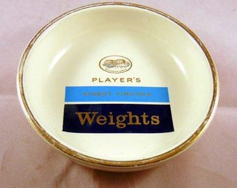 Vintage 1970s Players Weights Ashtray by Empire Porcelain