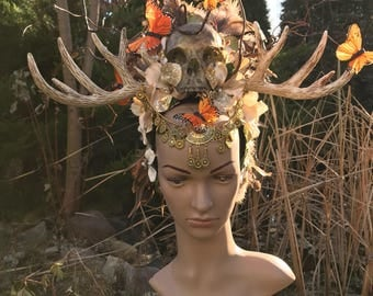MADE TO ORDER - Whispers from the Dark Forest elf's - Headdress
