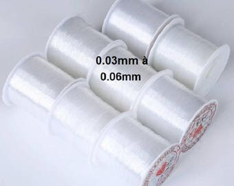 Spool of nylon thread for 0.03 mm - 50 m 0.06 mm jewelry making
