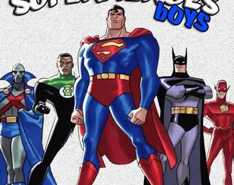 199 Superheroes Boys Clip art -INSTANT DOWNLOAD FOR cards, scrapbooking,digital art, printing, birthdays, party decor,invitation