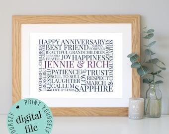 45th wedding anniversary gifts | Etsy
