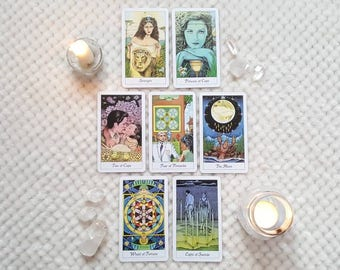 7 Card Tarot Reading (email) ~Past, Present, Future, Hidden Influences + Actions You Can Take~