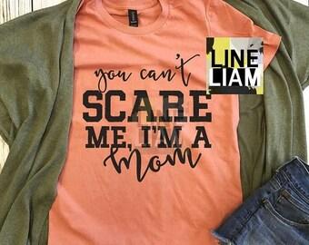 ENDS AT 12AM you cant scare me tshirt, womens halloween shirt, fall shirt, womens graphic tshirt, mom tshirt, pumpkin spice shirt, halloween