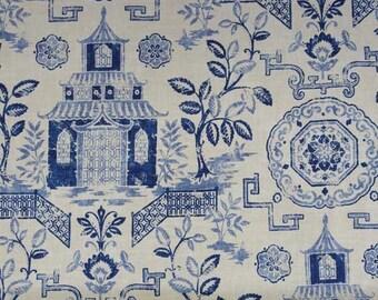 HOLIDAY SALE!!!,Teahouse Blue, Richloom Fabrics,Fabric By The Yard