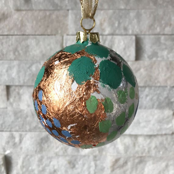 "Christmas Ornament- ""wanderlust"" - Free Shipping"