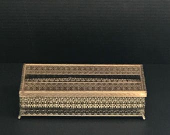 Vintage Brass Tissue Box Holder