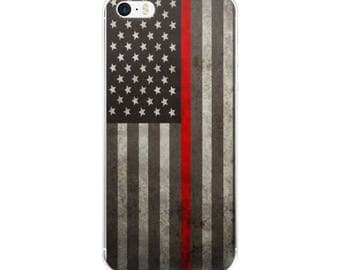Thin Red Line iPhone Case