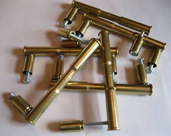 4 DOUBLE BRASS 30 30 Bullet Cabinet Door Handles, Bullet Drawer Handles,  Drawer