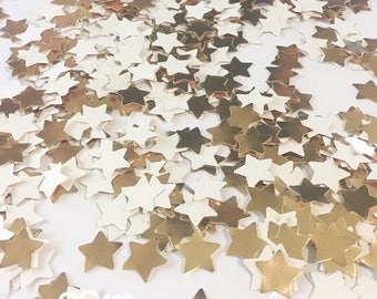Gold Star Confetti- confetti, star confetti, gold confetti, party decorations, twinkle twinkle little star, gold star, table decor