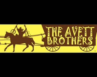 The Avett Brothers Horse and Wagon Bumper Sticker