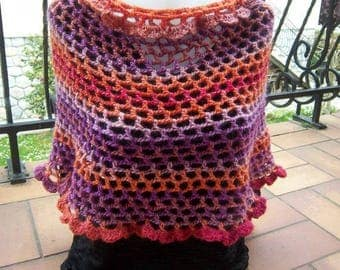 Heater shoulder crocheted woolen colorful #Collection was
