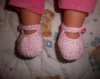 Cotton (Pink) baby booties