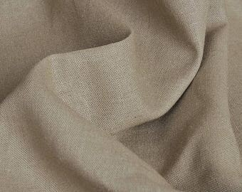 2 m fabric cotton linen clothing light coffee