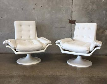 Pair of 1960's Fiberglass Chairs (GAGKNC)