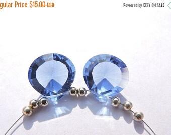 tITLE Christmas Sale 2 Pcs Matched pair Beautiful Iolite lue Quartz Concave Cut Heart Shaped Briolette Size 14 MM