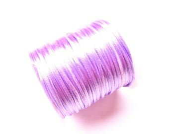 2 METRES OF 1.5 MM LILAC SATIN RAT TAIL CORD