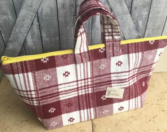 Flannel Tote Bag|Knitting Project Bag|Gift for Knitter|Crochet Project Bag|Knitting bag|Gift for Crocheter|Gift for Crafter|Gift for Her