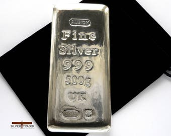2018 Albion® 500 gram Sheffield Hallmarked Silver Bullion Bar