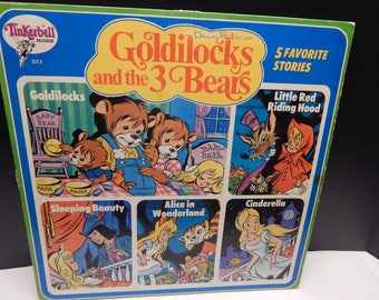 Tinkerbell Records Goldilocks and the 3 Bears, Little Red Riding Hood, Sleeping Beauty, Alice in Wonderland, Cinderella 5 Favorites