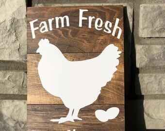 Farm Fresh Butt Nuggets - Wood Sign - Farmhouse wood sign - Rustic Farm Sign -