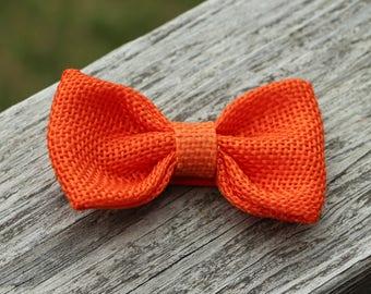 Orange hair child - no slip hair clip - loop burlap