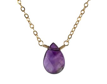 Birthstone Necklace February - Amethyst Necklace - Amethyst Necklaces for Women - Purple Jewelry for Women