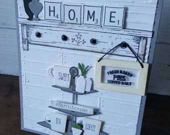 Custom Notecard, thank you,hello,just because card, rustic, Farmhouse-inspired, housewarming