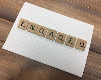 Engagement card, congratulationson your engagement