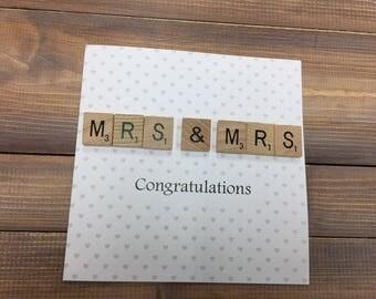 Mrs & Mrs Wedding Card, wedding day card