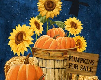 """Pumpkins For Sale 24"""" x 45"""" Panel from Northcott by the panel"""