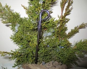 Blacksmith hand forged Hair Pin, Hair Spike, Viking, Celtic,Scottish, Renaissance fork