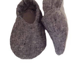 Charcoal Baby Shoes