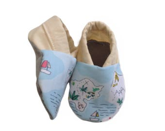 Tropical Island Soft Sole Baby Shoes, booties, pram shoes