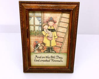 And On The 8th Day God Created Firefighter Picture Frame
