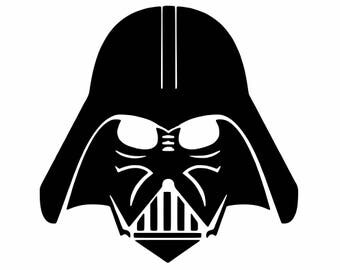 darth vader decal etsy. Black Bedroom Furniture Sets. Home Design Ideas