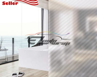 frosted clear carbon fiber film home bathroom window privacy sticker