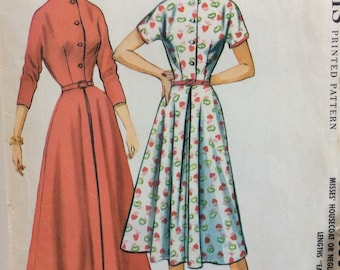 McCall's 4350 misses housecoat or housedress size 12 bust 32 vintage 1950's sewing pattern  Uncut