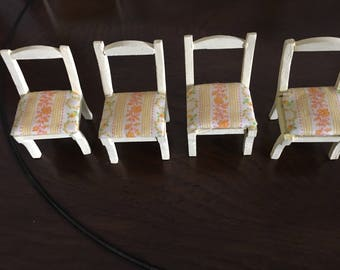Wood  Dollhouse chairs