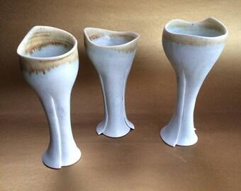 Set of 3 Val Eibner Canadian Studio Art Pottery Candleholder