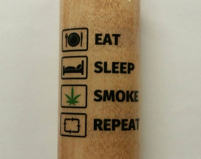 Eat Sleep Smoke Repeat BIC Lighter Case Holder Sleeve Cover