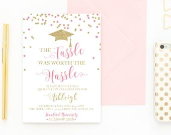 Graduation Party Invitation, College Graduation, High School Graduation, Grad Party, Graduation Party Invitations, Grad Party Invites [483]