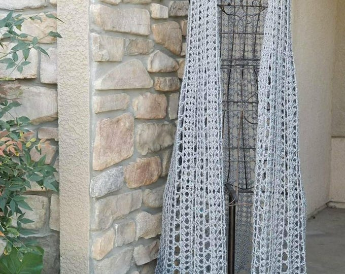 Gray Crocheted Duster