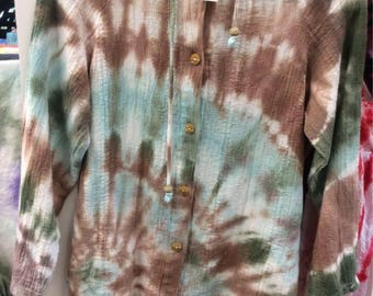 Bathingsuit Coverup hand tie dyed