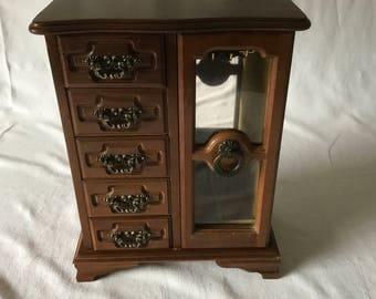 Wooden jewelry box Etsy