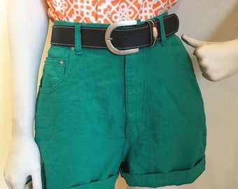 Highwaisted jade green early 90s Shorts!