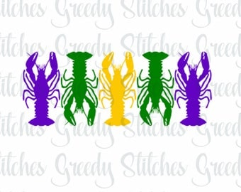 Mardi Gras Crawfish svg, dxf, eps, fcm, and png.  Crawfish SVG, Mardi Gras SVG, Mardi Gras Crawfish SVG, Instant Download.