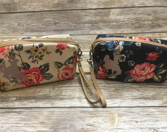 Floral make up pouches